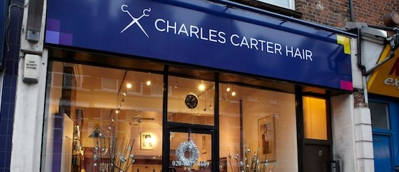 Charles Carter Hair shopfront